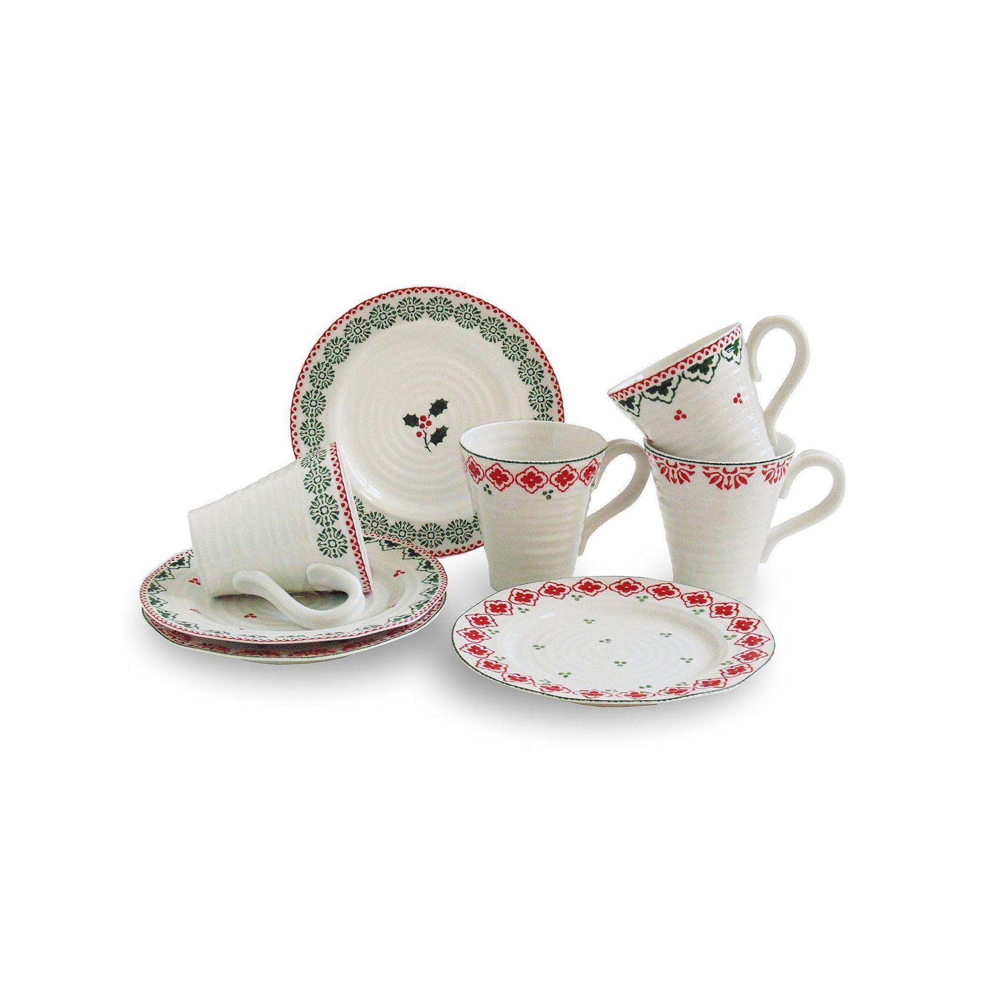 Christmas Dinnerware Set  sc 1 st  Pinterest & Portmeirion Sophie Conran 8-pc. Christmas Dinnerware Set | Christmas ...
