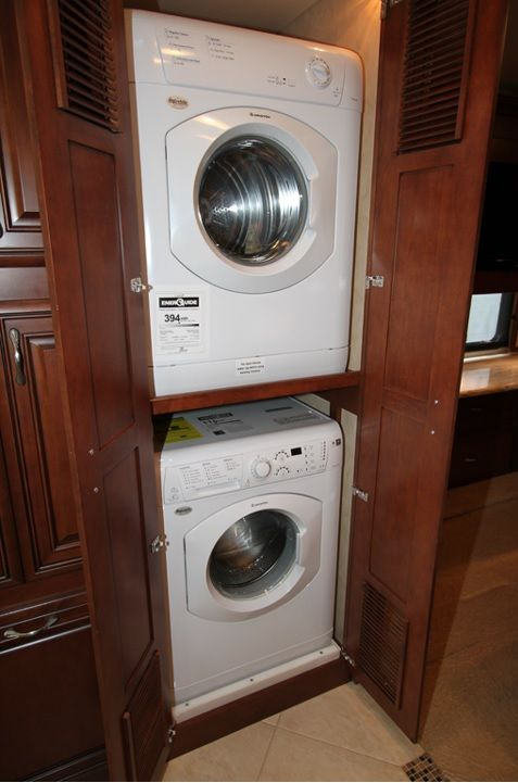 Stackable Washer Dryer In Hallway Closet Laundry Room Storage