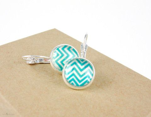 Chevron Silver Earrings