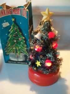 View Item: 1950s-60s Vintage Christmas Tree Blinking Lighted Christmas Tree