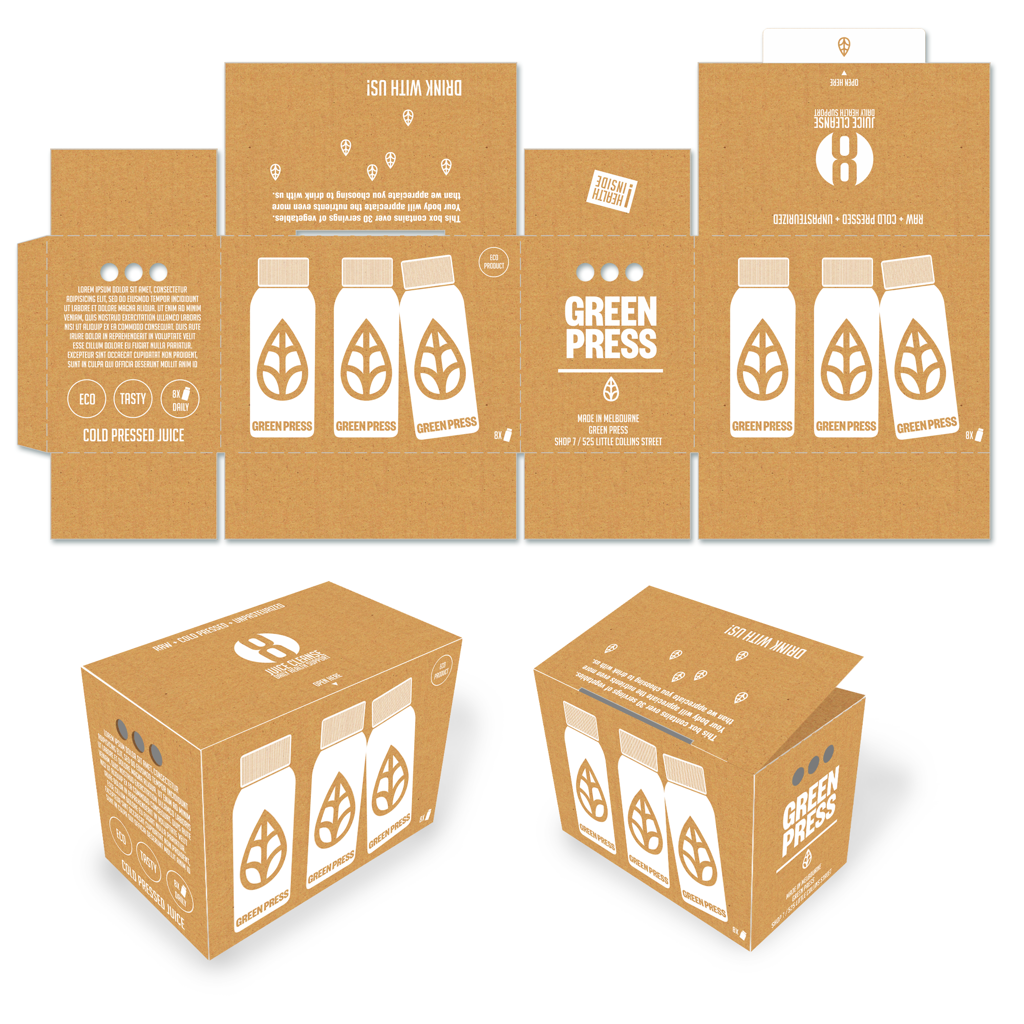 green press cardboard box package pinterest packaging design