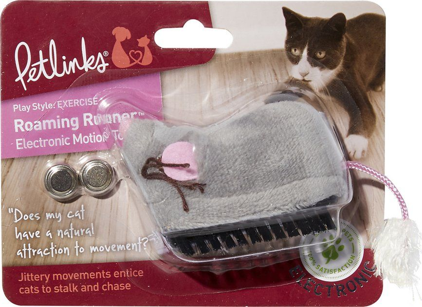 Petlinks Roaming Runner Mouse Electronic Motion Cat Toy Chewy Com Cat Toys Cats Foster Kittens