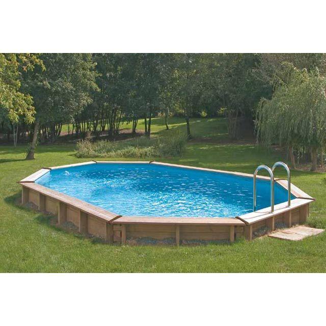 Piscine castorama piscine en bois shala 5 48 x 3 65m - Piscine tubulaire castorama ...
