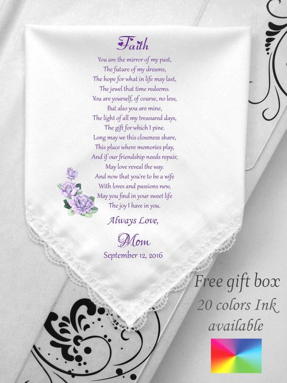 Code Hy 1025 Gedruckte Gedicht Für Hochzeit Taschentuch Mit