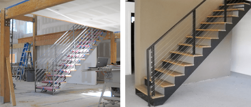 Straight Double Stringer Steel Stairs Stairs Staircase Design
