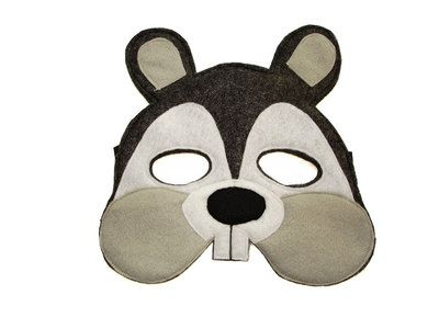 Children S Woodland Animal Squirrel Felt Mask From Magical Attic
