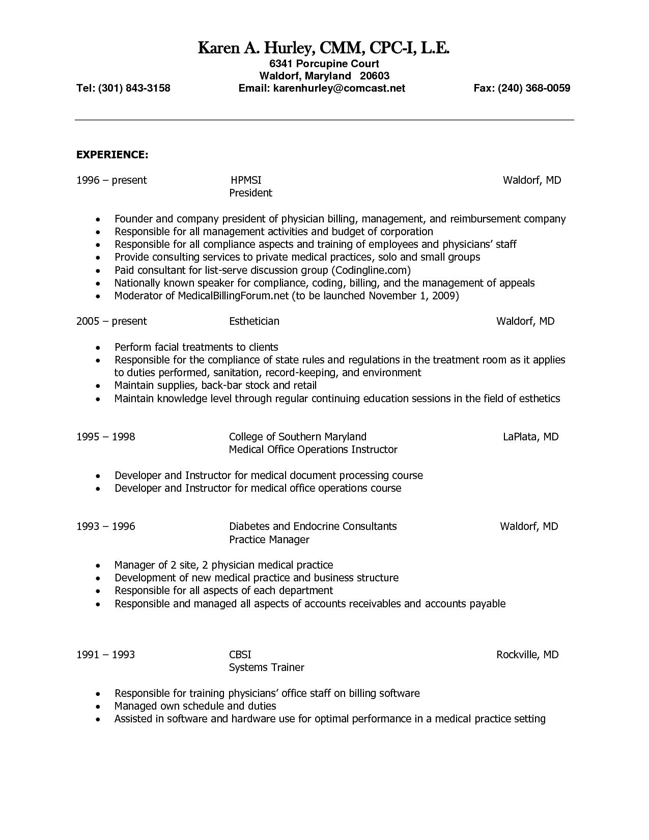 Esthetician Resume Esthetician Resume Cover Letter Sample  Tips And Tricks For