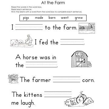 1st grade science worksheets   Fill In The Blank Worksheets For ...