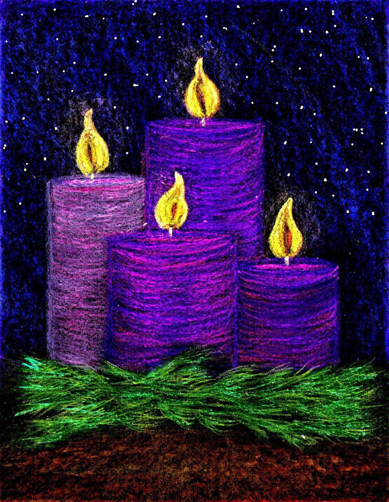 Candles Christmas Art Pinterest
