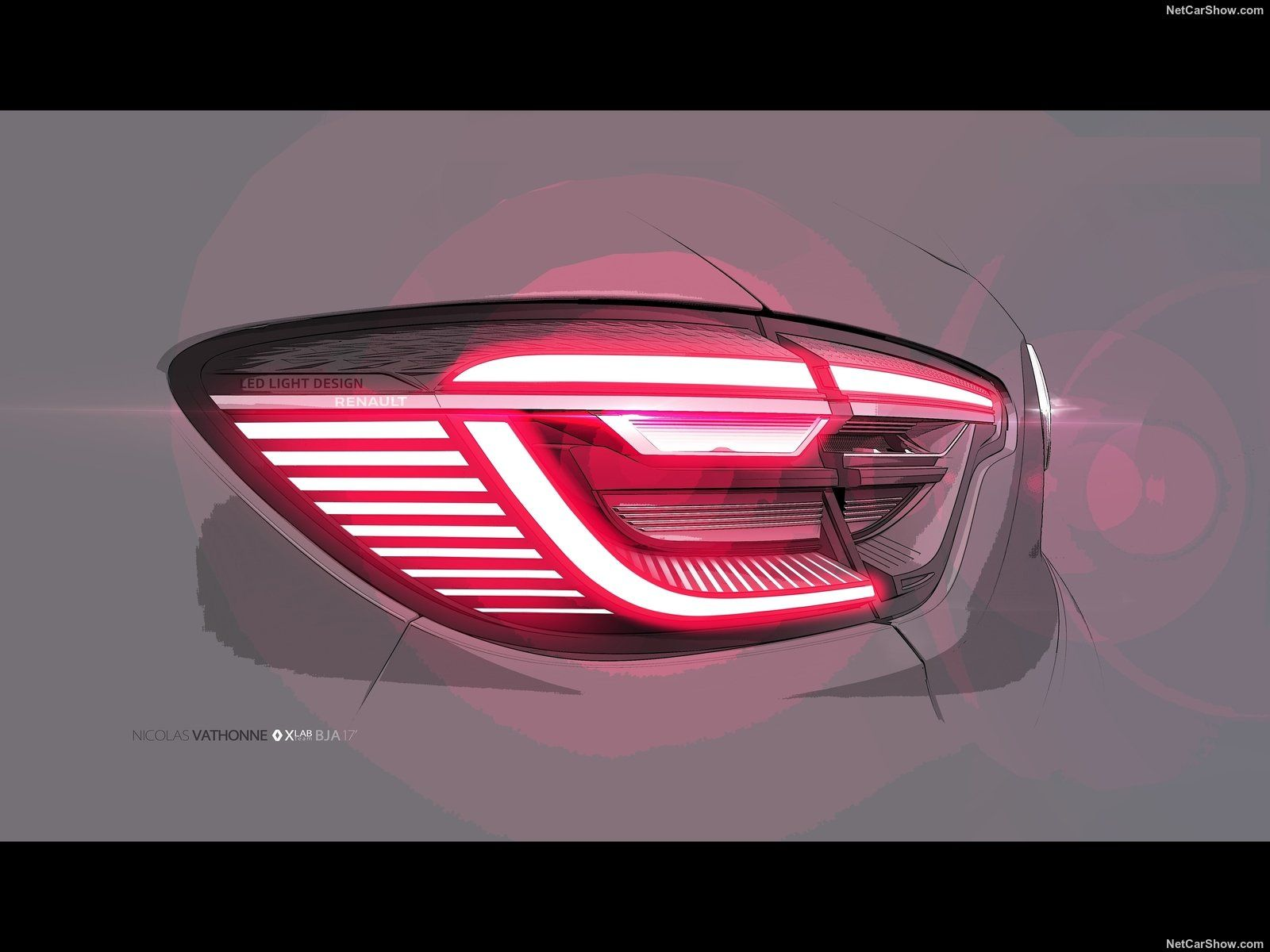 2020 Renault Clio Taillight Design Sketch Car Design Sketch Car
