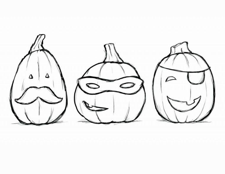 Disegno Zucca Halloween Tre Disegni Da Colorare Di Zucche