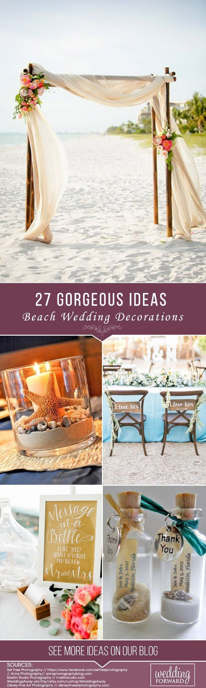 Beach wedding decoration ideas diy   Gorgeous Beach Wedding Decoration Ideas  Beach weddings donut