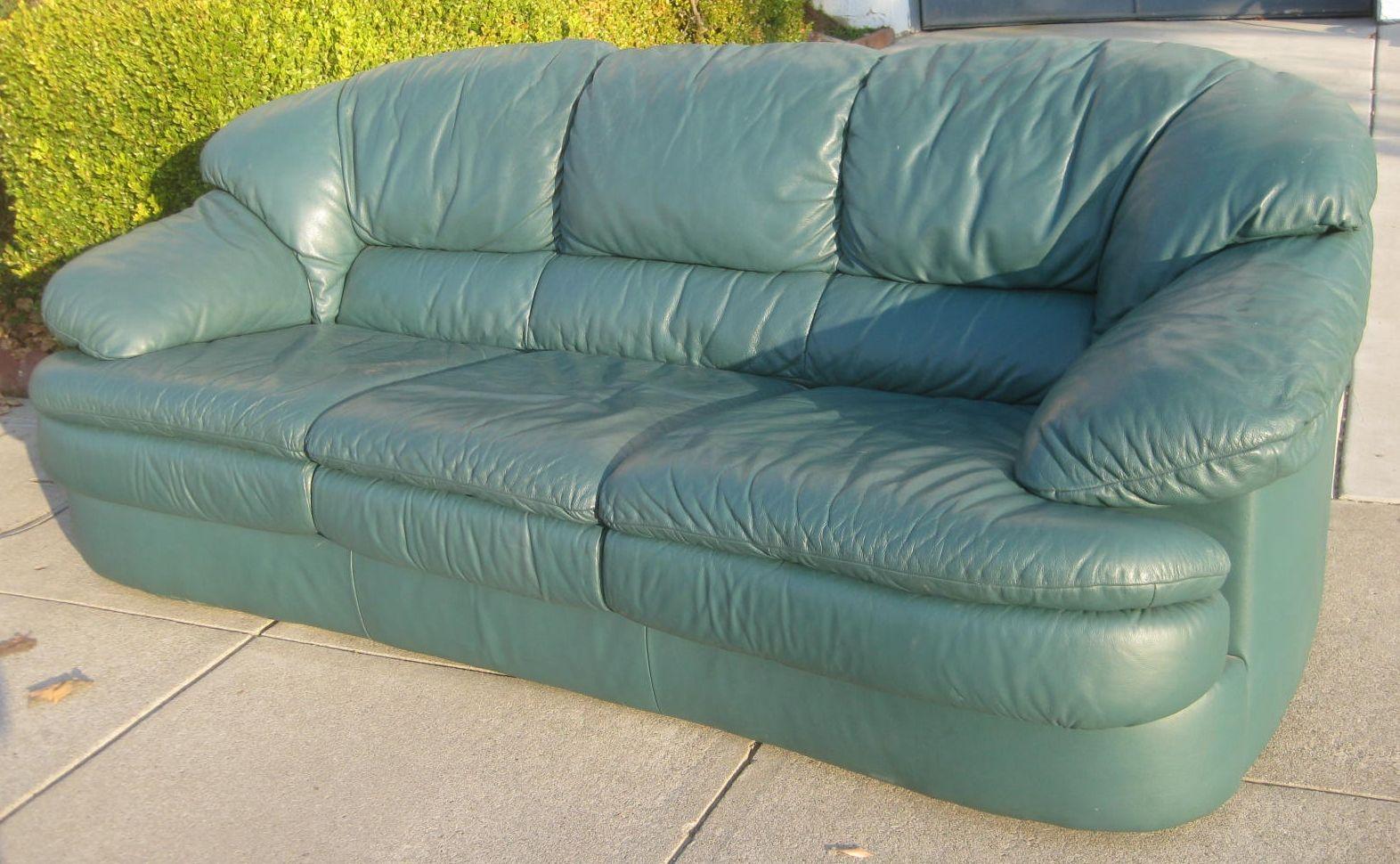 Outstanding Dark Green Leather Sofa Bed Nurten Machost Co Dining Chair Design Ideas Machostcouk