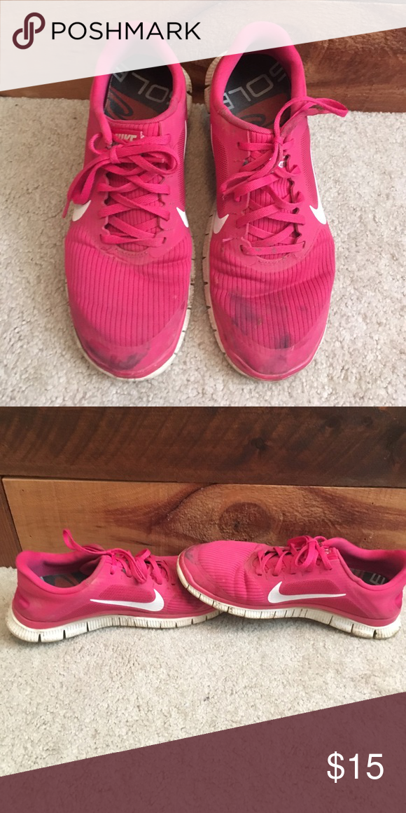 21992ee3418ed Nike free 4.0 Worn pink nikes! Can be bundled or negotiated on price ...