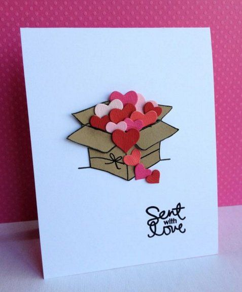Sent With Love Tarjetas De Amor Hechas A Mano Tarjetas Artesanales Tarjetas Creativas