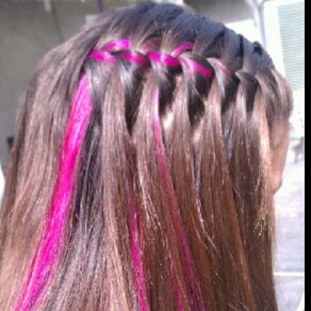 Did sissys hair for her B-day. Waterfall braid :)