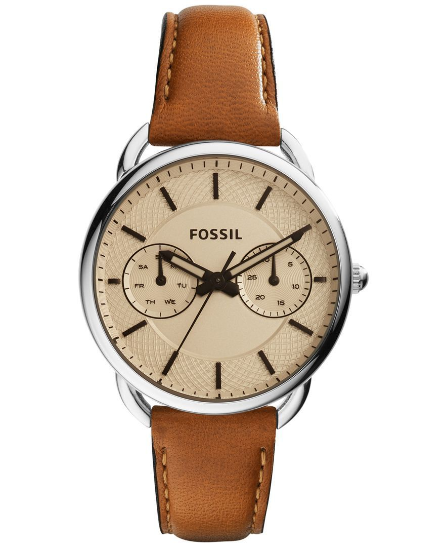 fossil s tailor leather 35mm es3950