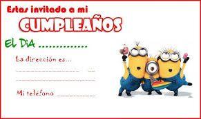 Tarjetas De Minions Gratis Para Cumpleaños Invitaciones De