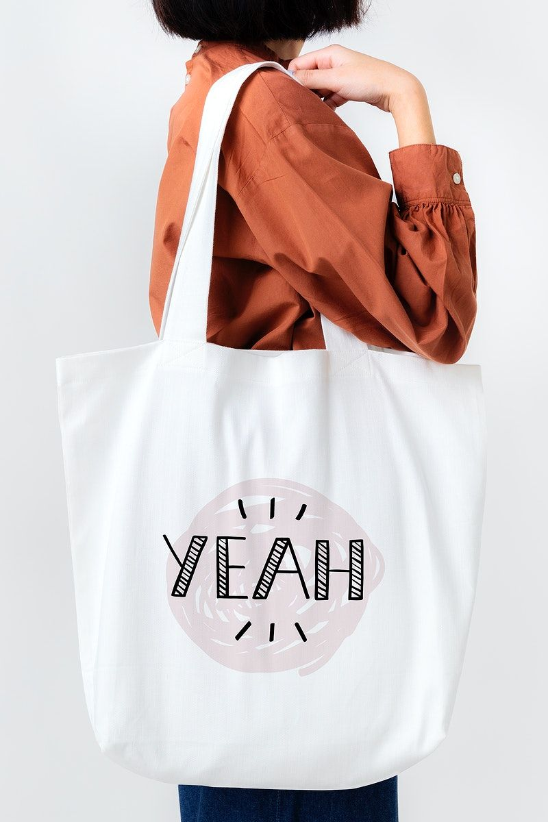 Download Download Premium Psd Of Woman With Tote Bag Mockup 2288257 Bag Mockup Tote Bag Blank Tote Bag