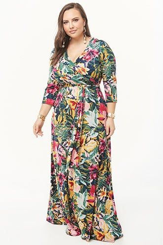 74c3633fd3de Plus Size Tropical Floral Print Maxi Dress | Forever 21 | My Style ...