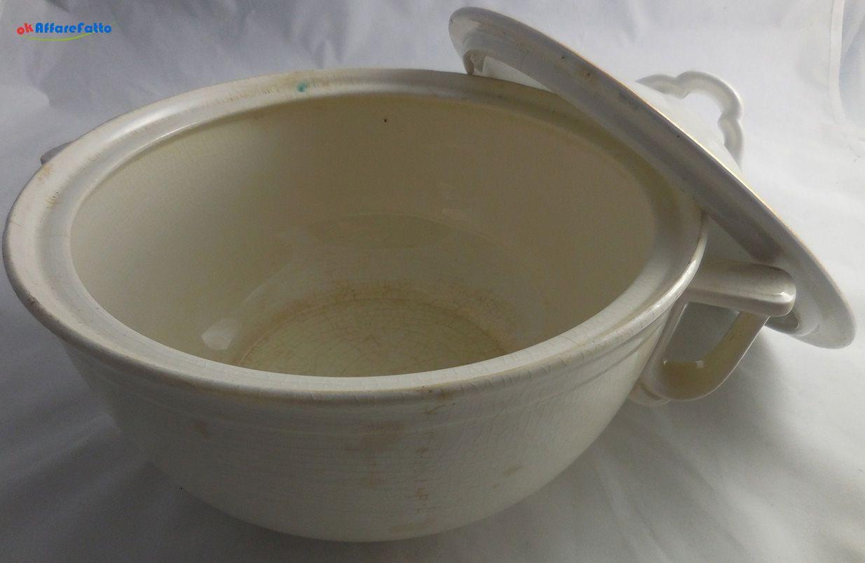 H 878 ZUPPIERA CON COPERCHIO IN CERAMICA BIANCA LAVENO - http://www.okaffarefattofrascati.com/?product=h-878-zuppiera-con-coperchio-in-ceramica-bianca-laveno