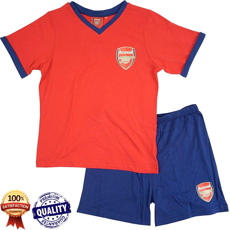 Boys Arsenal Pyjamas Football Pj Set Kids Nightwear Pajamas