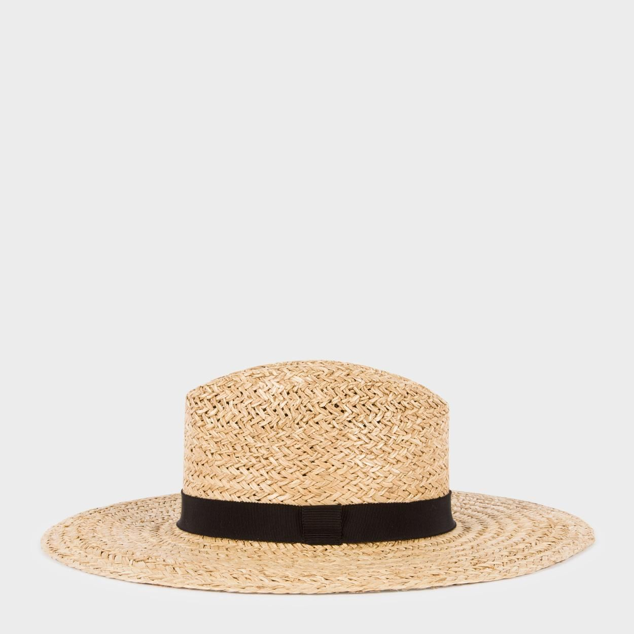 813f45912d486c Paul Smith Women's Taupe Open-Weave Straw Hat on ShopStyle ...