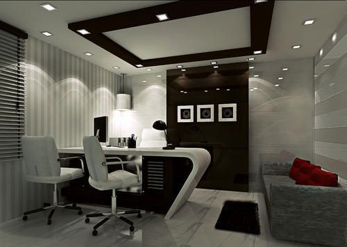Office md room interior work executive tables for Interior office design ideas photos layout