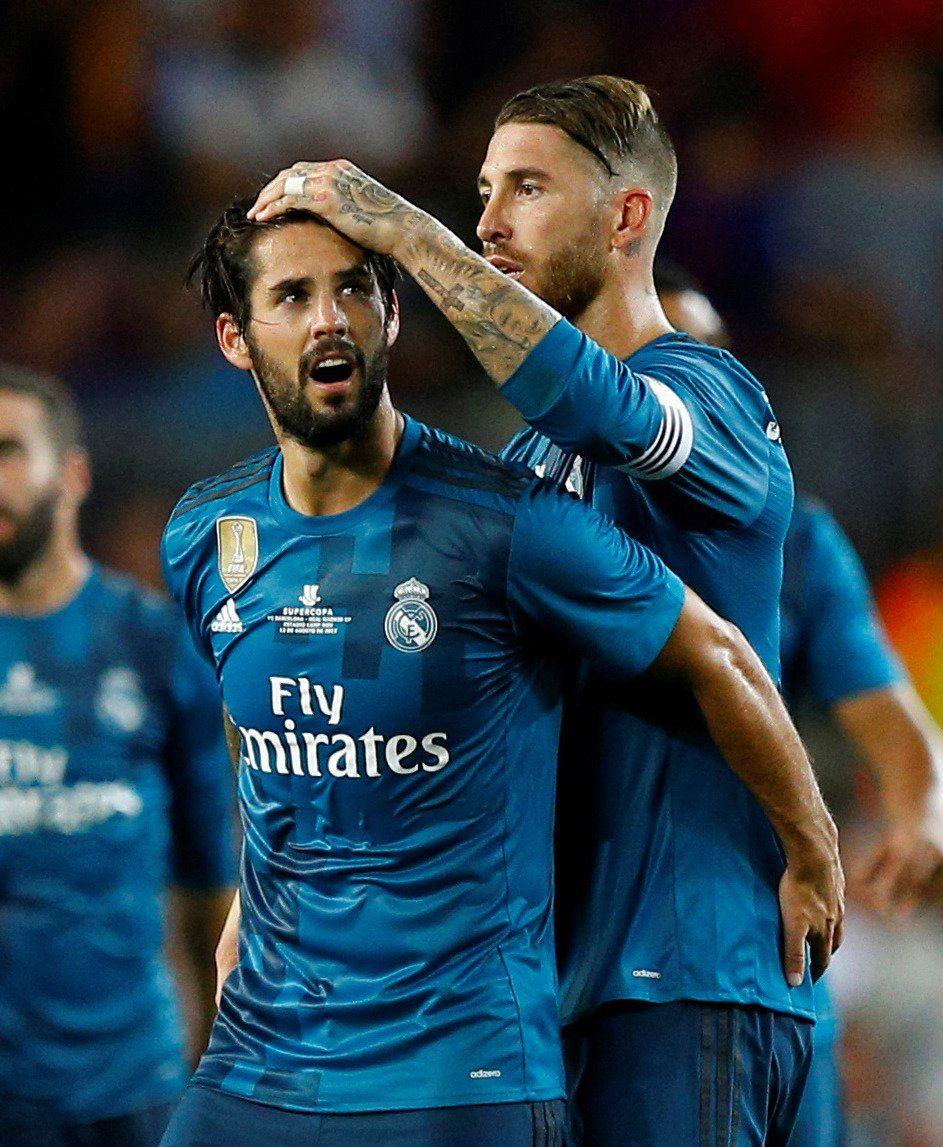 Isco Y Sergio Ramos Real Madrid Shirt Real Madrid Real Madrid Club
