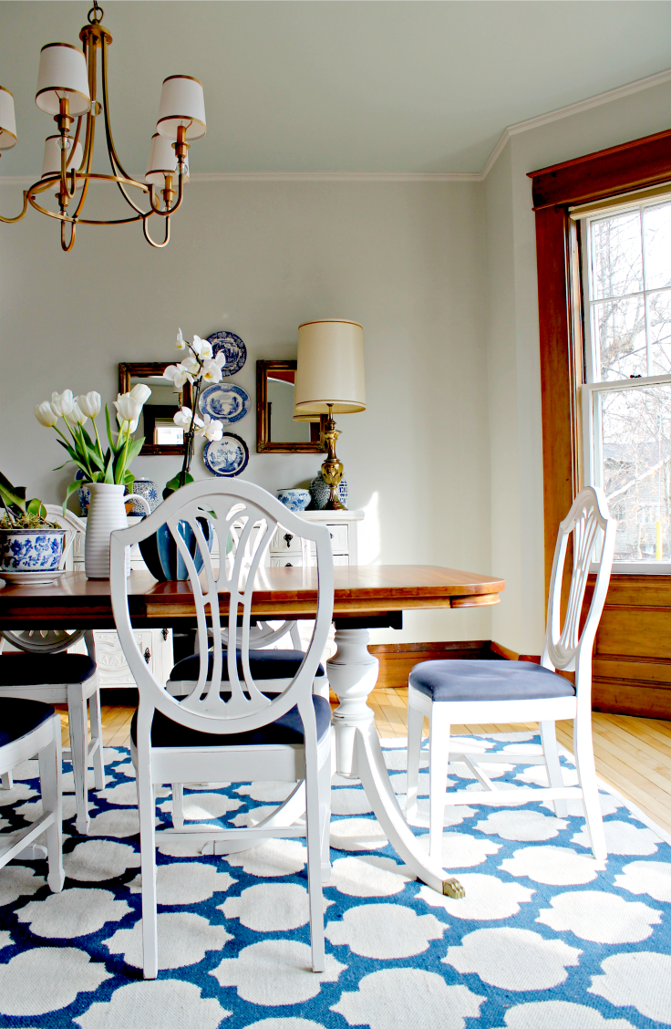 This dining rm on a budget is enhanced by the Annie Sloan Pure White ...
