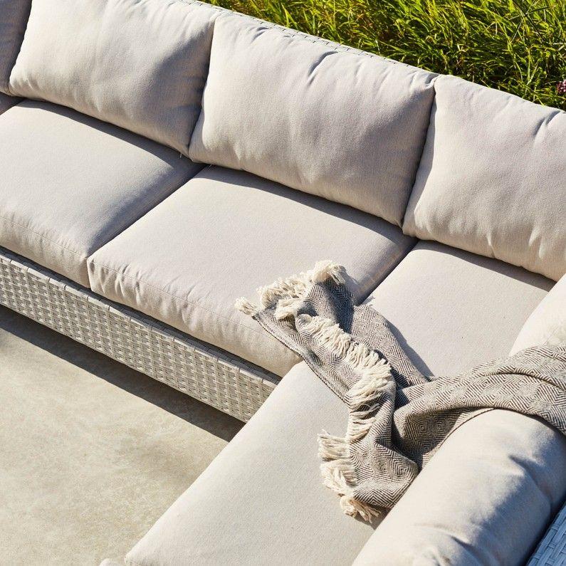 Salon de jardin Paros en aluminium blanc, 7 personnes | tuin ...