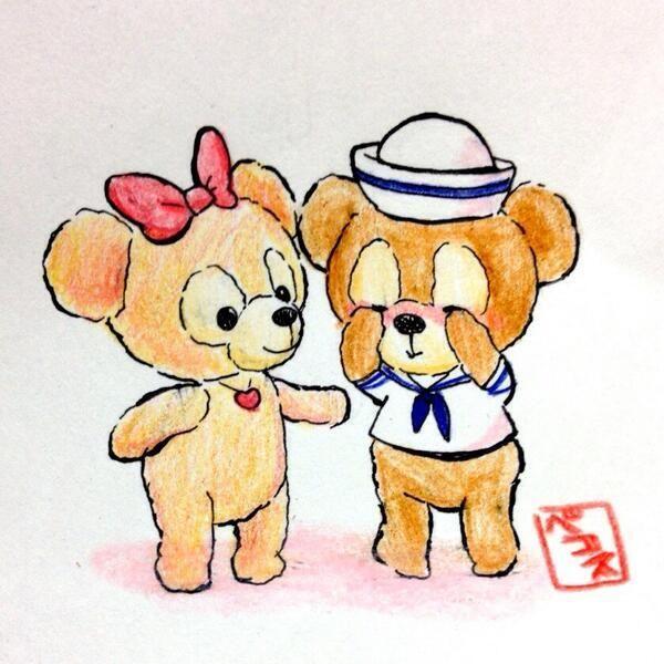 埋め込み画像 ディズニー 可愛い かわいいクマ 可愛いイラスト