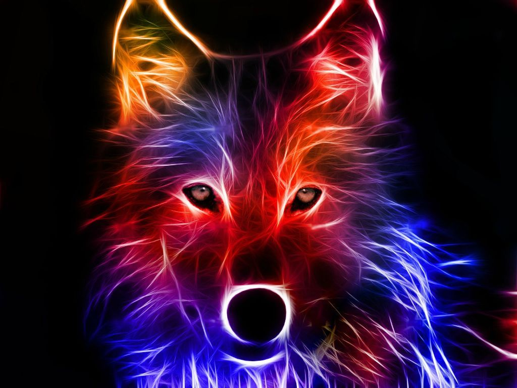 3D HD Wallpapers 1080p Abstract wolf, Cool backgrounds