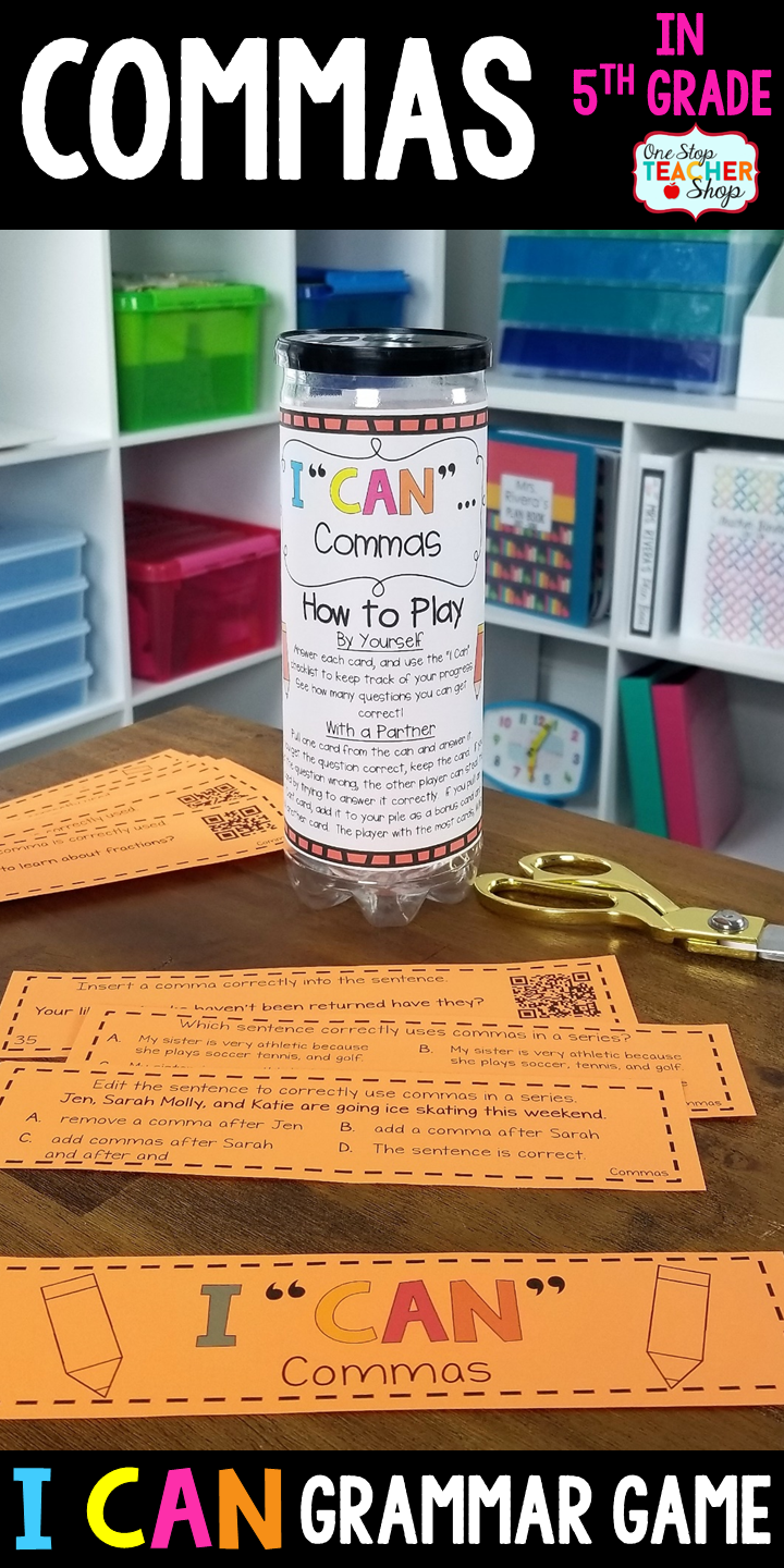 5th grade grammar game commas in a series and more grammar 5th grade grammar game commas in a series and more sciox Images