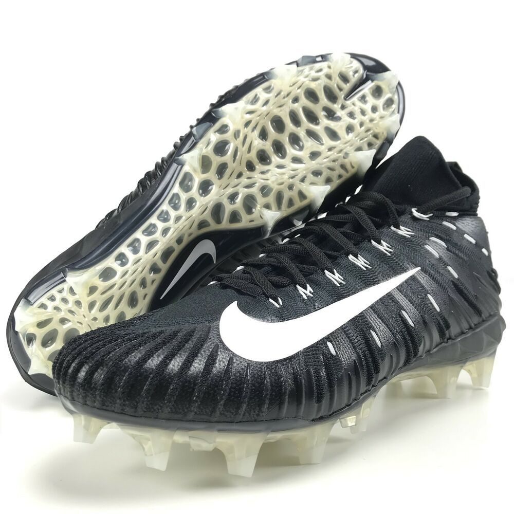 e76e24bcb Advertisement(eBay) Nike Alpha Menace Elite 14 Mens Football Cleats Black  White Metallic Silver