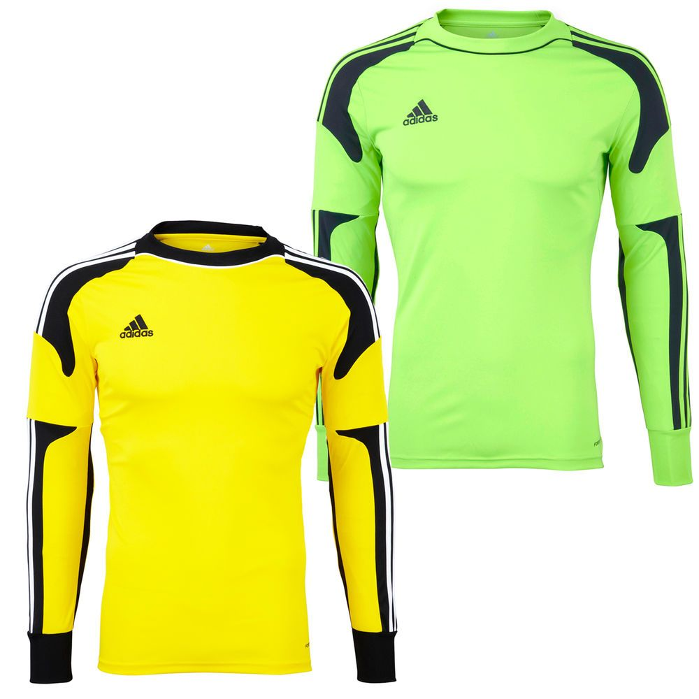 9d953015d7c Adidas Mens Revigo Climacool Long Sleeve Goal Keeper Jersey Shirt Top New # adidas