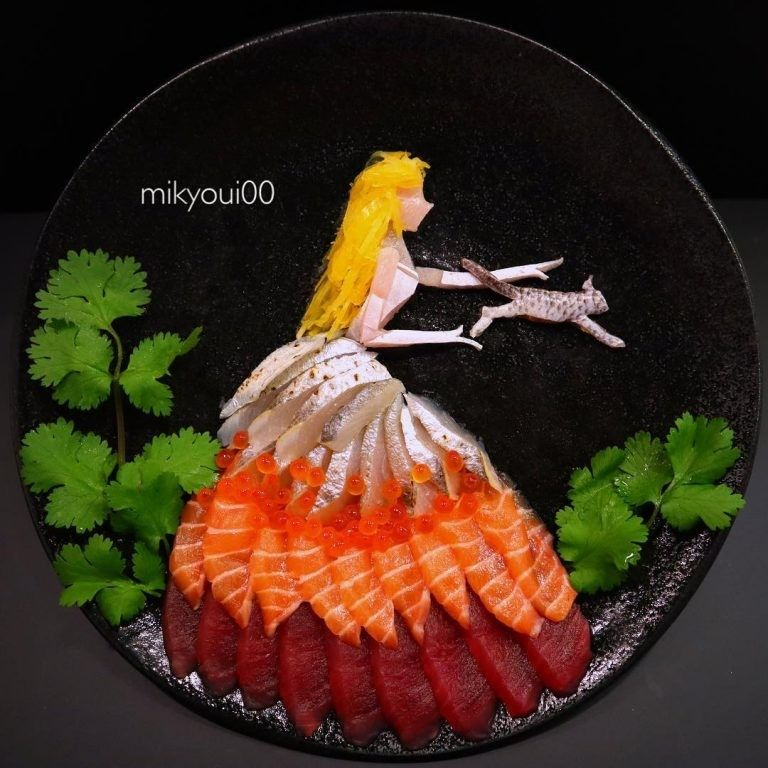 Photo of Amazing Food Art. #SashimiArt #AmazingFoodCarvings #AmazingFoodAr