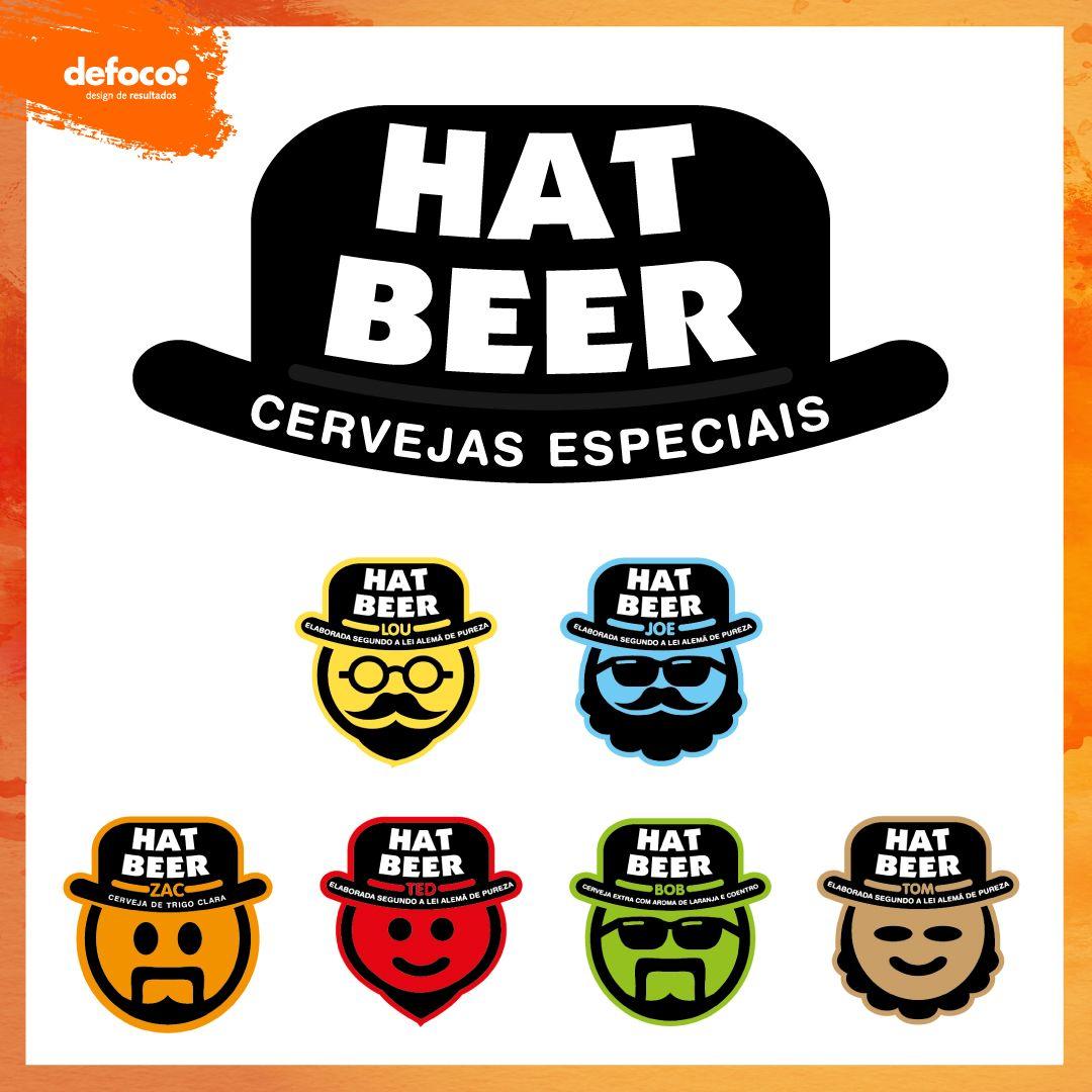 Logos Desenvolvidos Pela Defoco Para A Empresa De Cervejas Hat