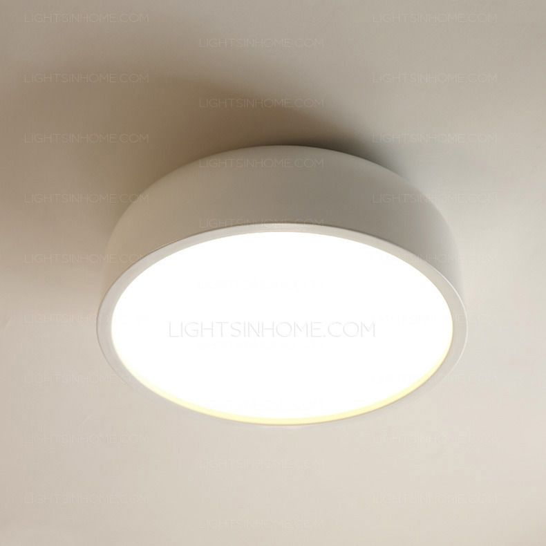 Simple 14 1 Diameter 3 Light Modern Flush Mount Ceiling Light