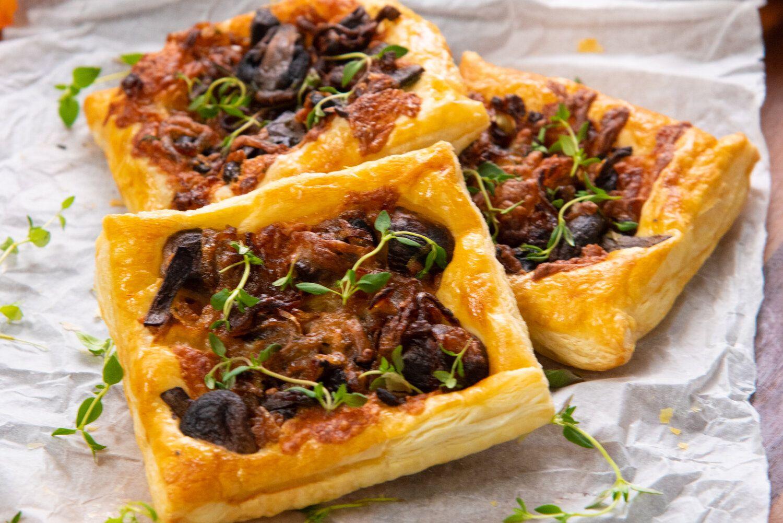 Gruyere, Mushroom, and Caramelized Onion Puffs Recipes
