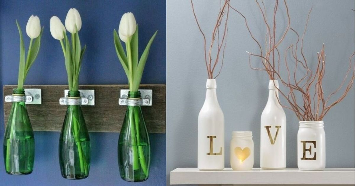 15 Ideas Super Originales Para Decorar Tu Casa Con Botellas De Vidrio Botellas De Vidrio Decoraciones De Casa Botellas Decoradas