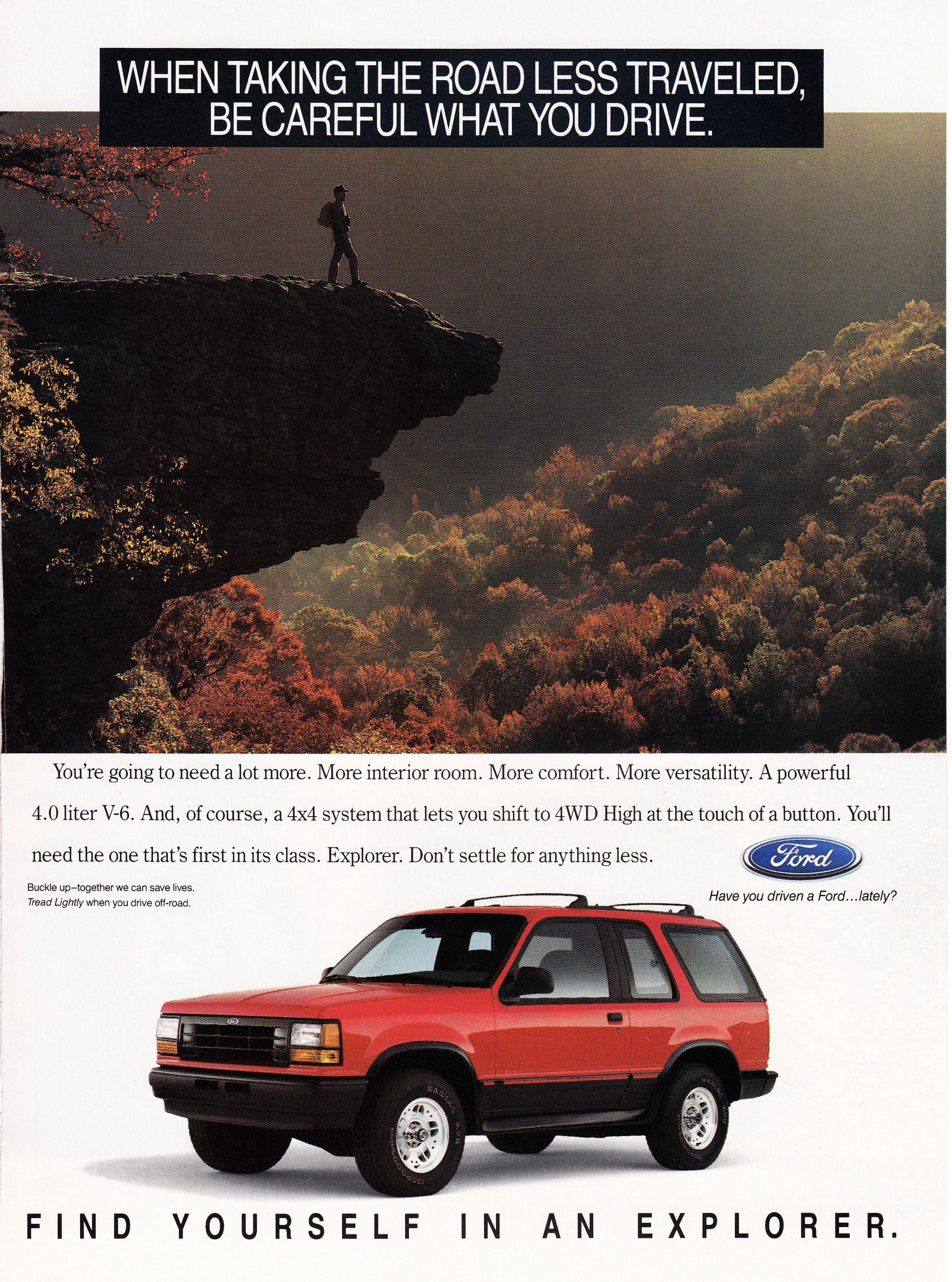 1993 Ford Explorer. Ford explorer, Explore, Vintage magazine