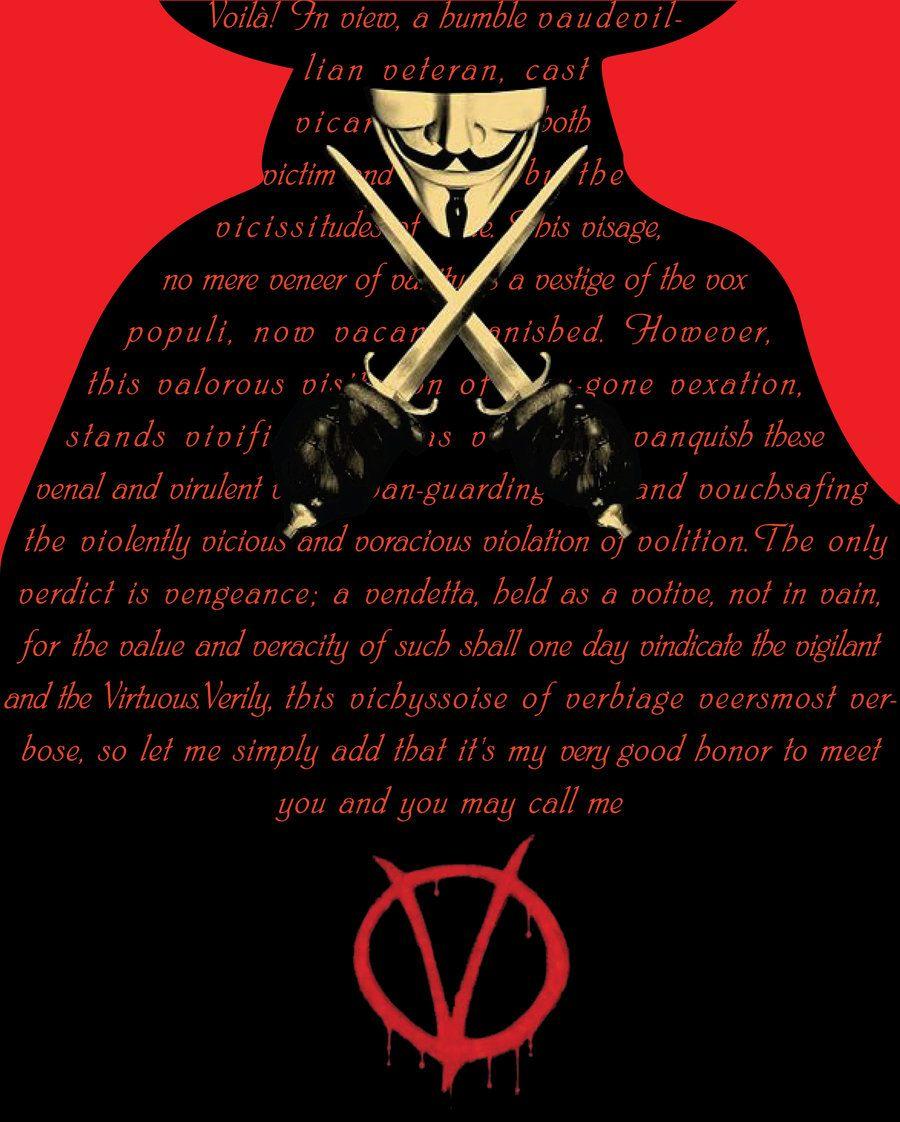 V for Vendetta Speech by Shadeomega777 V for vendetta