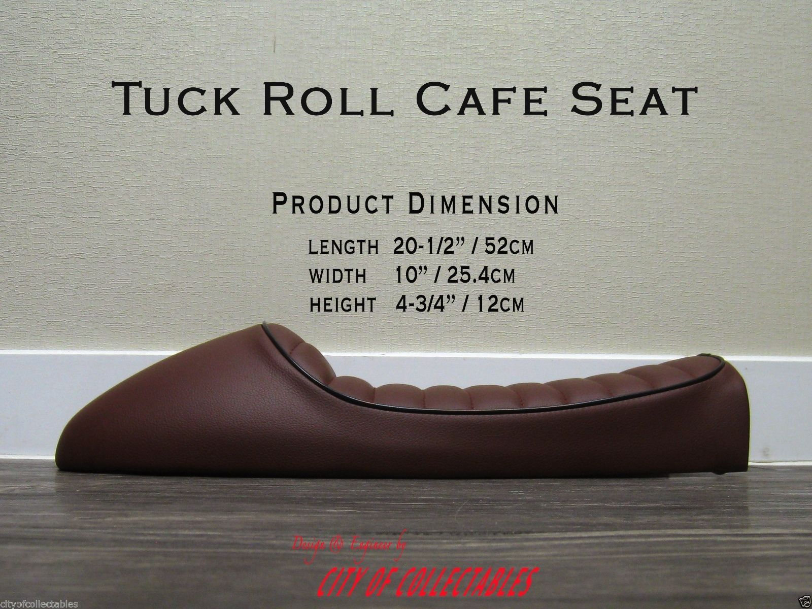 special edition cafe racer seat in leather: triumph motorcycle