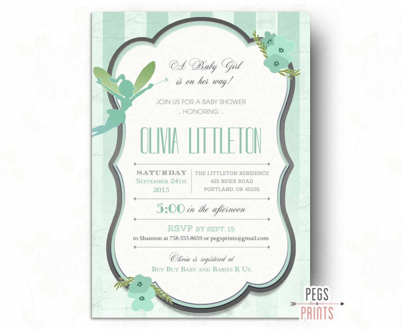 Fairy Baby Shower Invitation // Fairy Garden Baby Shower