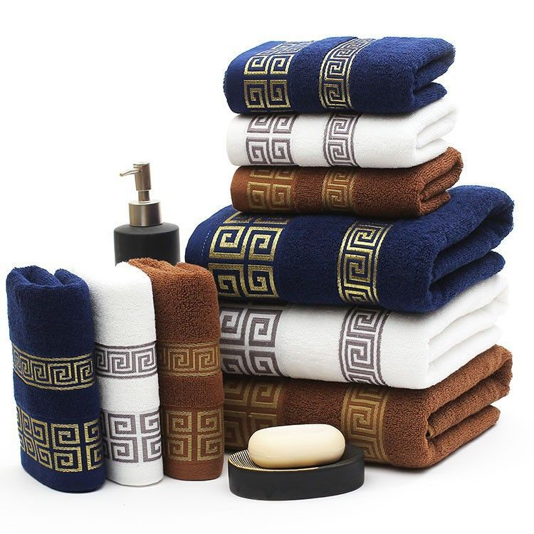 High Quality 3pcs Set Cotton Bath Towel Set Jogo De Toalhas De