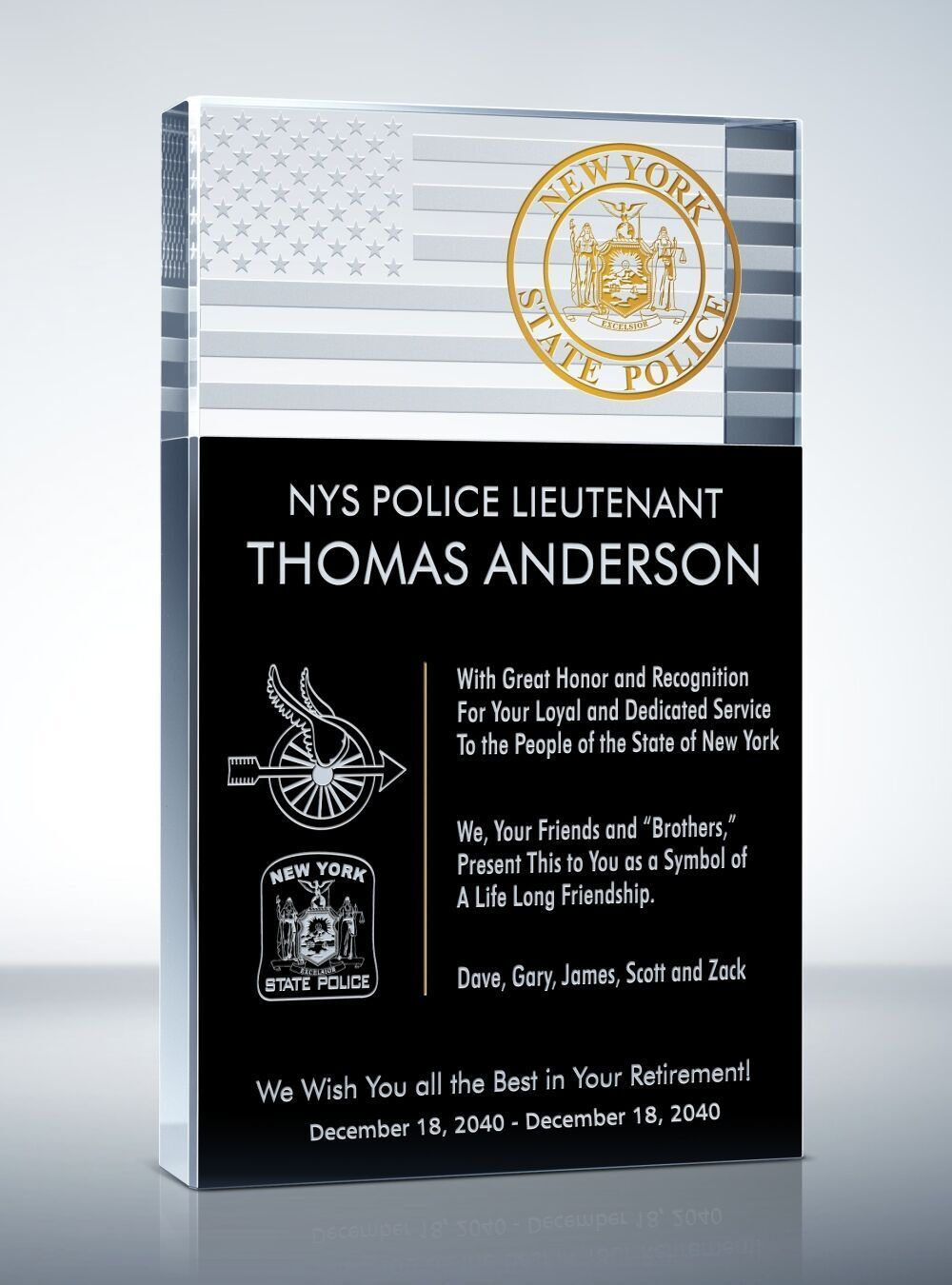Police Retirement Plaque And Wording Samples Retirement Plaques Police Retirement Gifts Police