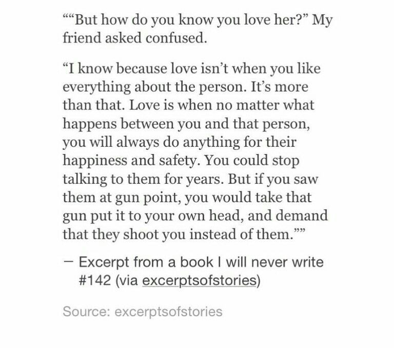 How to know you love her