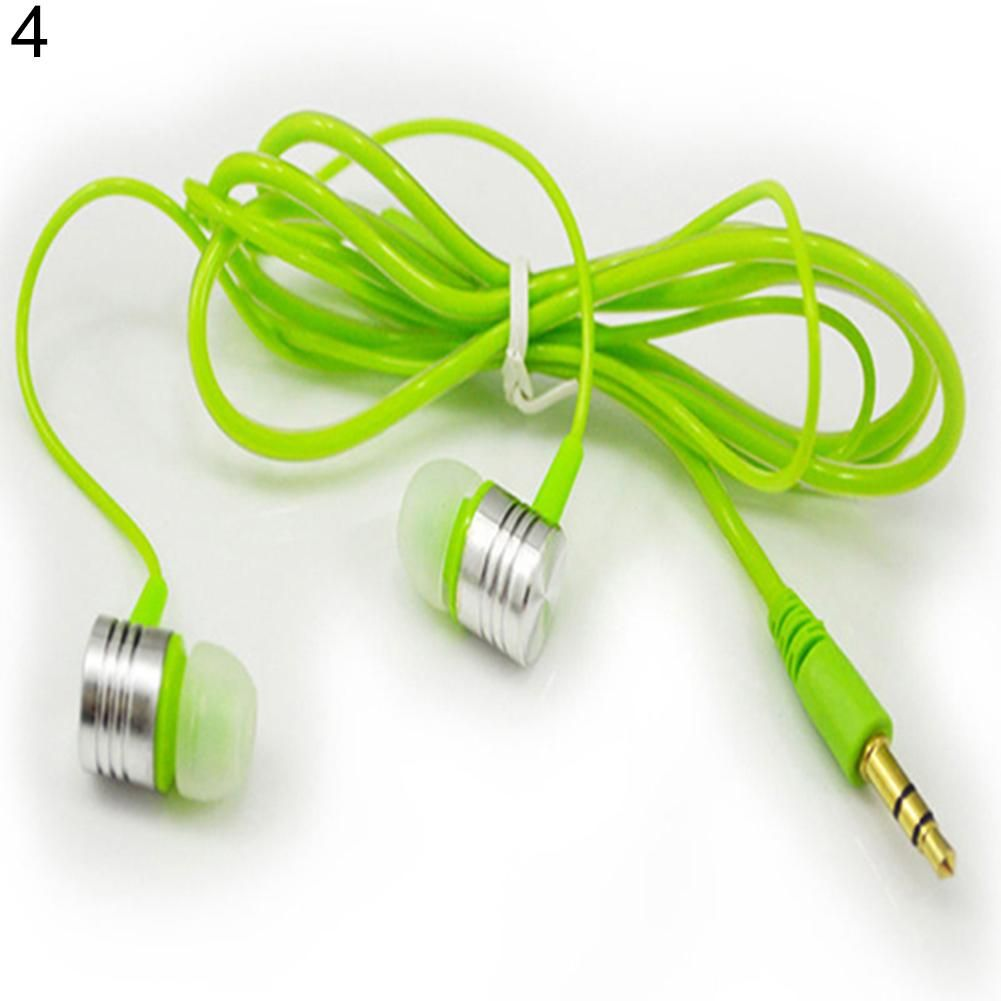 Universal 3.5mm In-ear Stereo Earbuds Headphone Earphone Headset for Cell Phone - Green