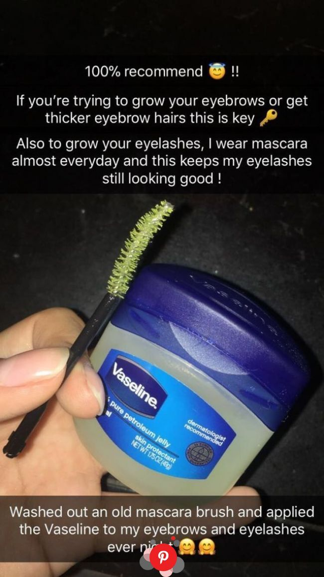 Apply Vaseline with the brush on your eyebrows and eyelashes every night | Beauty hacks eyelashes, Thick eyebrows, Natural skin care   Apply Vaseline with the brush on your eyebrows and eyelashes every night | Beauty hacks eyelashes, Thick eyebrows, Natural skin care #skincare